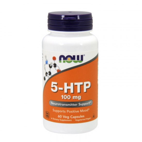 Now Foods 5-HTP 5-Хидрокситриптофан 60 капсули 100 мг