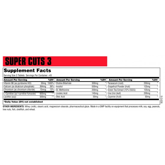 Super Cuts 3 Universal Nutrition