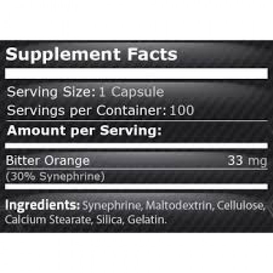 100% pure synephrine - 33 mg
